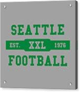 Seahawks Retro Shirt Acrylic Print