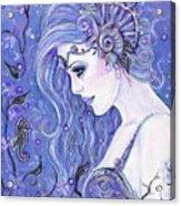 Seahorse Dreams Mermaid Acrylic Print
