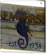 Seahorse Est. 1934 Acrylic Print