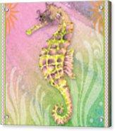 Seahorse Violet Acrylic Print