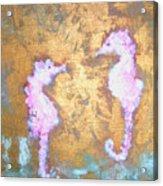 Seahorses Acrylic Print