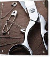 Seamstress Scissors Acrylic Print