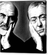Sean Connery And Michael Caine Acrylic Print