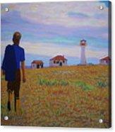 Sean's Visit To Cross Island Lighthouse Acrylic Print