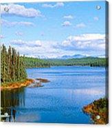 Seaplane On Talkeetna Lake, Alaska Acrylic Print