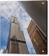 Sears Tower From Across The Street Acrylic Print