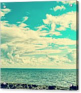 Seascape Cloudscape Instagramlike Acrylic Print
