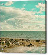 Seascape Cloudscape Retro Effect Acrylic Print