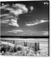 Seascape In Black And White Acrylic Print
