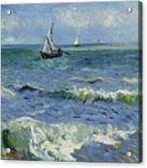 Seascape Near Les Saintes Maries De La Mer Arles June 1888 Vincent Van Gogh 1853  1890 Acrylic Print