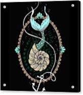 Seashell Mermaid Acrylic Print