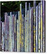 Seashore Fence Acrylic Print