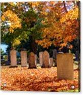 Seaside Cemetery Acrylic Print