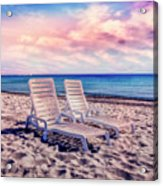 Seaside Chairs Acrylic Print