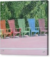 Seaside Chairs Acrylic Print