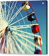 Seaside Ferris Wheel Acrylic Print
