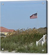 Seaside Patriotism Acrylic Print