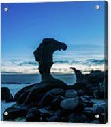 Seaside Rock Formations At Daybreak Acrylic Print