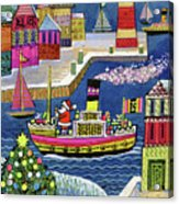 Seaside Santa Acrylic Print
