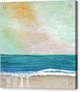 Seaside Sunset- Expressionist Landscape Acrylic Print