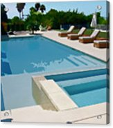 Seaside Swimming Pool As A Silk Screen Image Acrylic Print