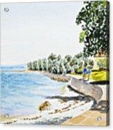 Seaside Town Acrylic Print