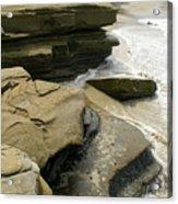 Seaside With Rocks On Left Acrylic Print