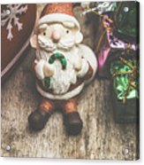 Seasons Greeting Santa Acrylic Print