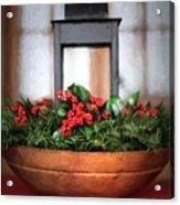 Seasons Greetings Christmas Centerpiece Acrylic Print