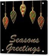 Seasons Greetings Merry Christmas Acrylic Print