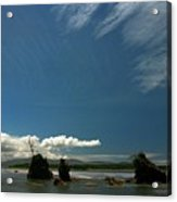 Seastacks And Clouds Acrylic Print