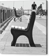 Seat On The Pier Acrylic Print