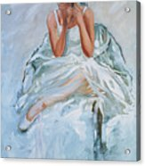 Seated Dancer Acrylic Print
