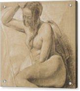 Seated Female Nude Acrylic Print