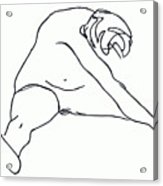 Seated Figure Acrylic Print