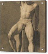 Seated Male Nude Acrylic Print