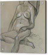 Seated Nude 5 Acrylic Print