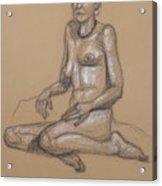 Seated Nude 7 Acrylic Print