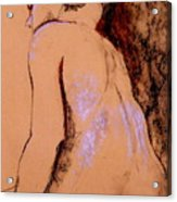Seated Nude Acrylic Print
