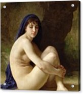 Seated Nude Acrylic Print by William Adolphe Bouguereau