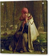 Seated Shepherdess Acrylic Print