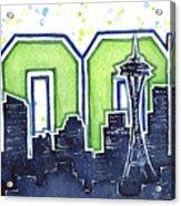 Seattle 12th Man Legion Of Boom Painting Acrylic Print
