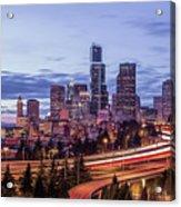 Seattle At Dusk Acrylic Print