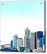 Seattle Blue Acrylic Print