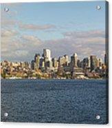 Seattle City Skyline Along Lake Union Acrylic Print