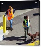 Seattle Dock Dog Workers 1 Acrylic Print