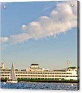 Seattle Ferry Boat Acrylic Print