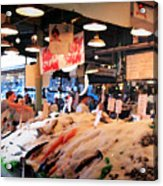 Seattle Fish Throw Pike St Market Acrylic Print