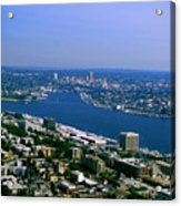 Seattle From Space Needle Acrylic Print