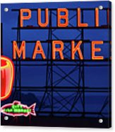 Seattle Glow Acrylic Print